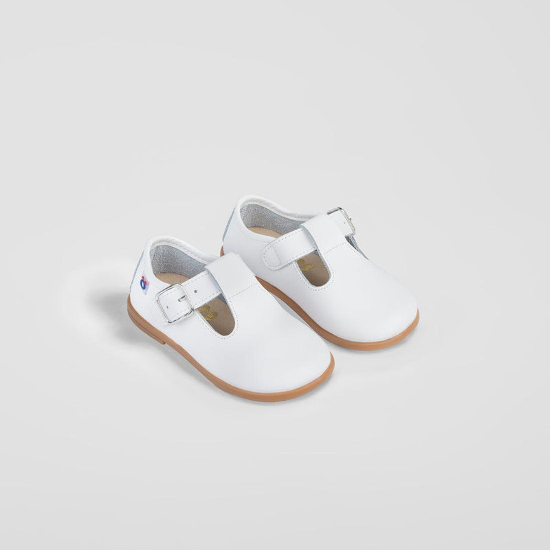 Babies White Leather Shoe