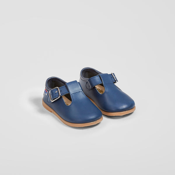 Baby's Navy Leather Shoe