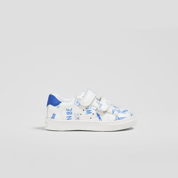 Baby's White Drawing Sneakers