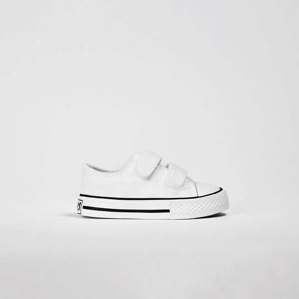 Babies White Canvas Sneakers