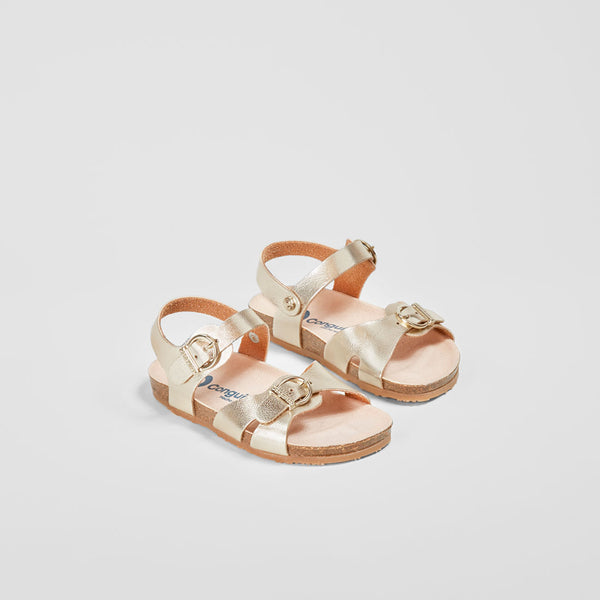 Baby's Platinum Metallic Bio Sandals