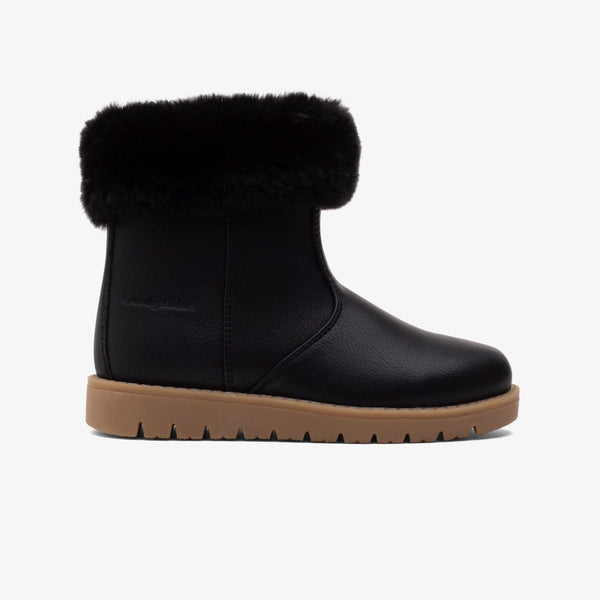Girl's Black Fur Boots