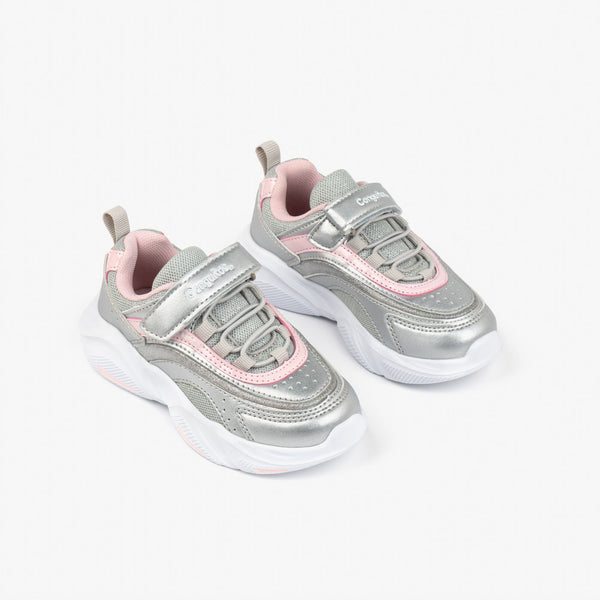 Girl's Silver Multicolor Sneakers