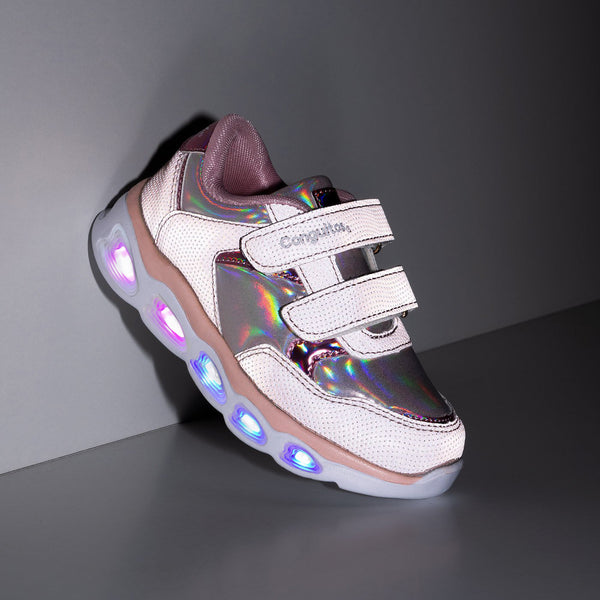 Girl's Light Up and Reflectant Sneakers