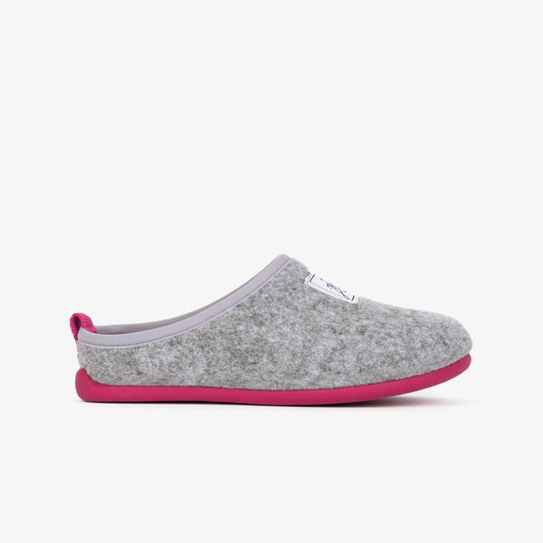 Grey Pink Ecological Home Slippers