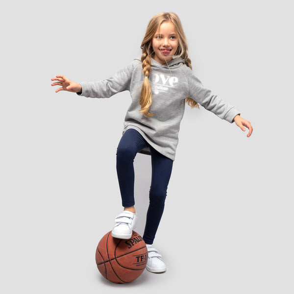 Girl's Grey Reflectant Sweatshirt Dress