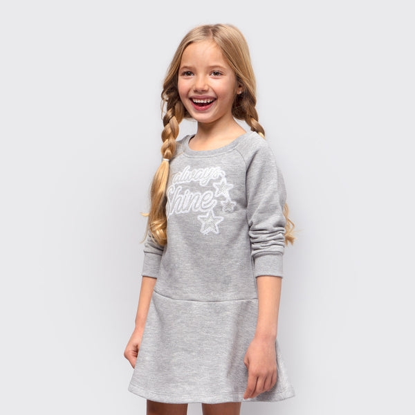 Girl's Grey Glow in the Dark Dress