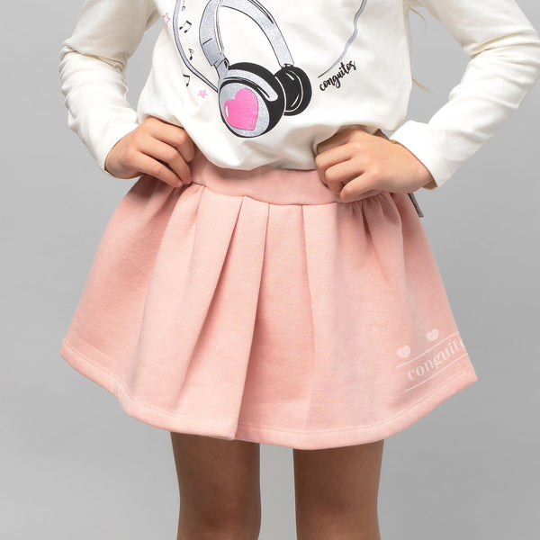 Girl's Pink Reflectant Skirt
