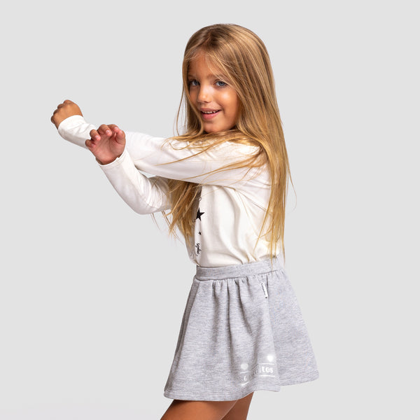 Girl's Grey Reflectant Skirt