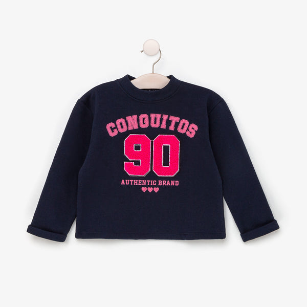 Girl's Navy Conguitos Sweater