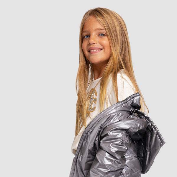 Girl's Silver Anorak