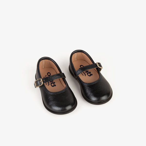 Baby's Navy Metallized Mary Janes