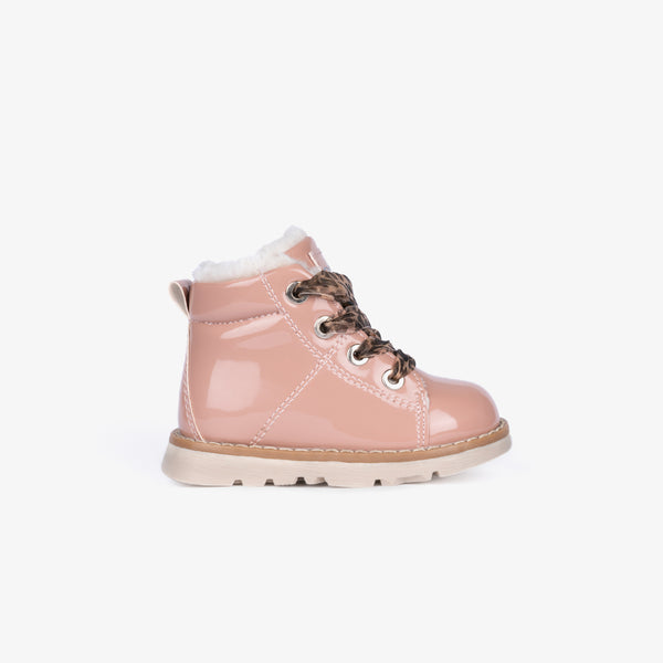 Baby's Pink Patent Leather Boots