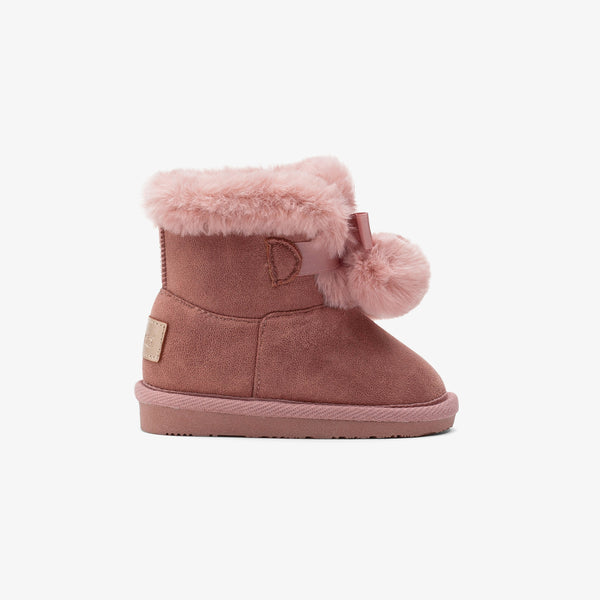 Baby's Pink Pompom Australian Boots