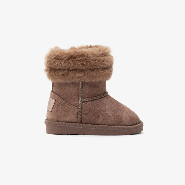Baby's Taupe Fur Australian Boots