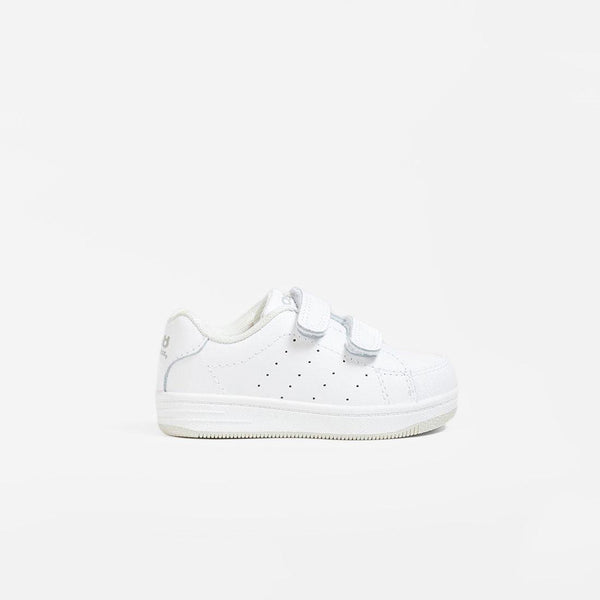 Babies White Washable Leather Trainers