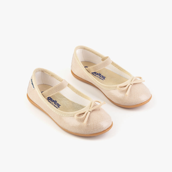 Girl's Cream Fantasy Ballerinas