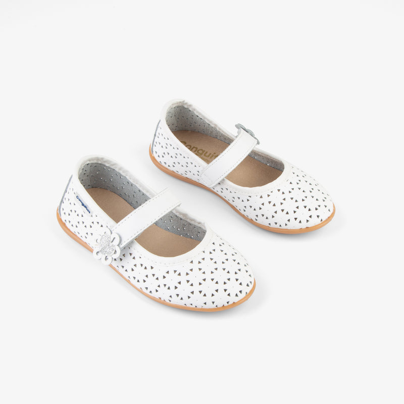 "Girl's ""Heart"" Washable Leather Mary Janes"