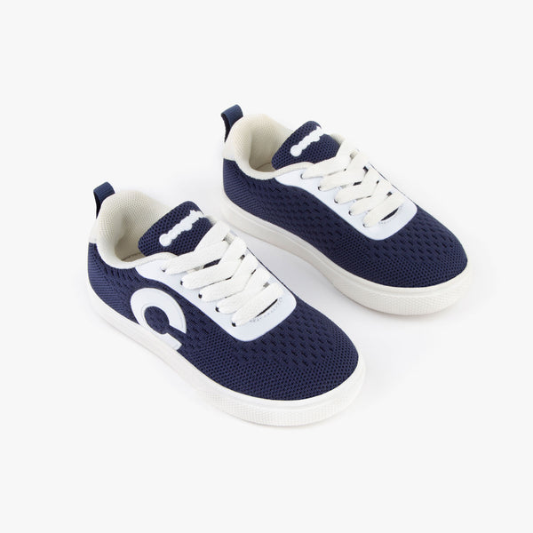 Boy's Navy Mesh Sneakers