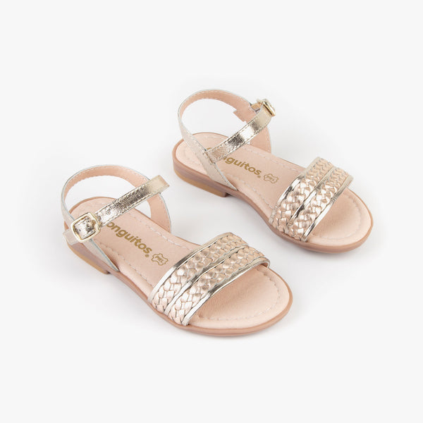 Girl's Platinum and Magnesium Sandals
