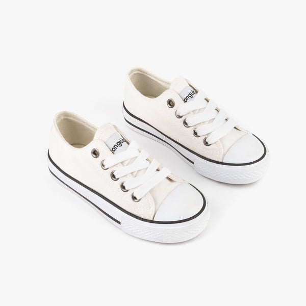 Unisex White Canvas Sneakers