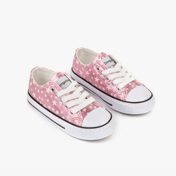 Girl's Pink Stars Sneakers