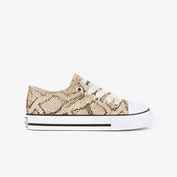 "Girl's ""Snake"" Platinum Sneakers"