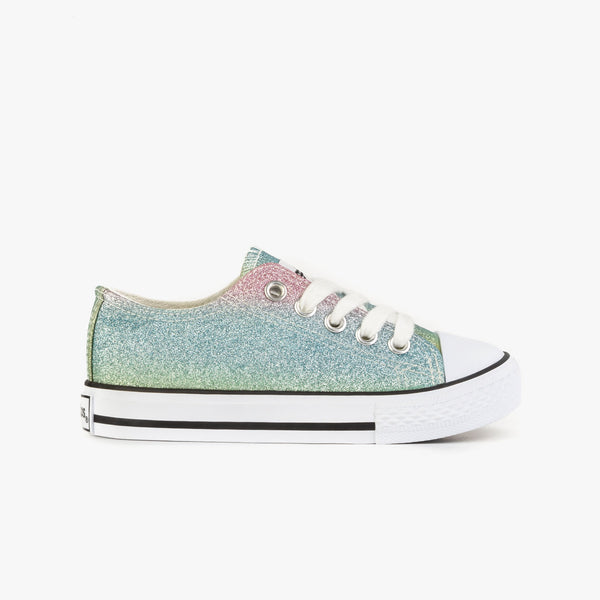 Girl's Multi Glitter Sneakers