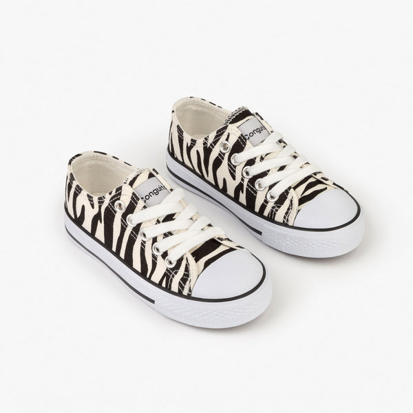 Unisex Zebra Canvas Sneakers