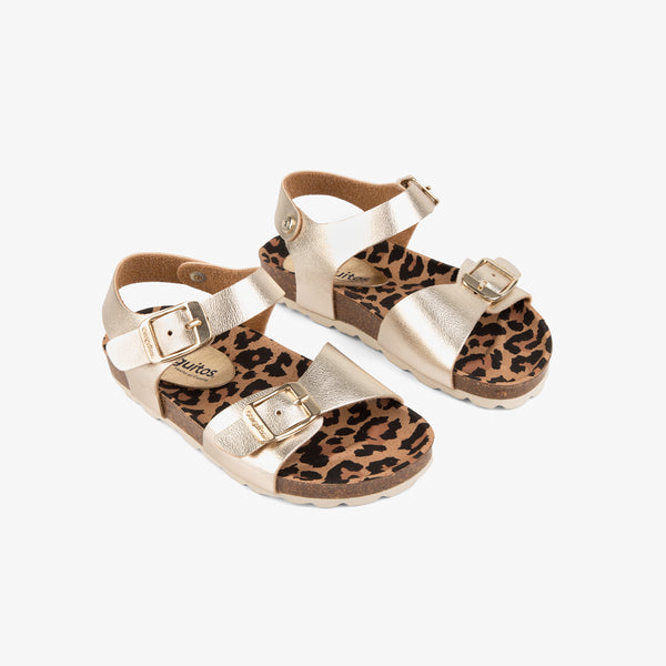 Girl's Platinum Metallized Bio Sandals
