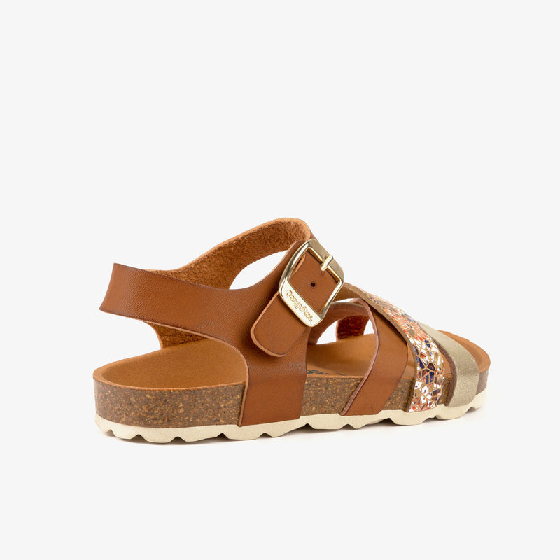 Girl's Multi Metallized Bio Sandals