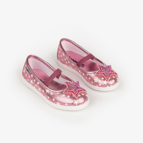 "Girl's ""Star"" Pink Ballerinas"