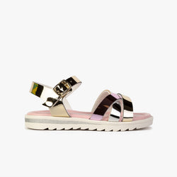 Girl's Multicolor Metallized Sandals