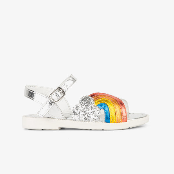 Girl's Rainbow Leather Sandals
