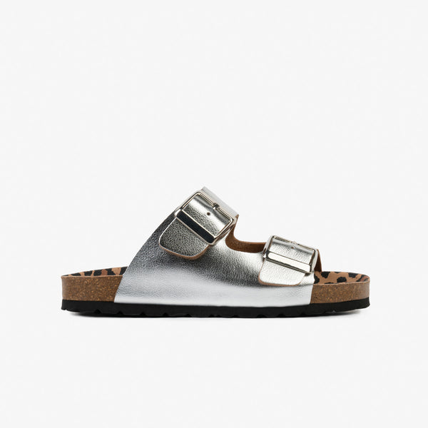 Girl's Silver Buckles Bio Sandals