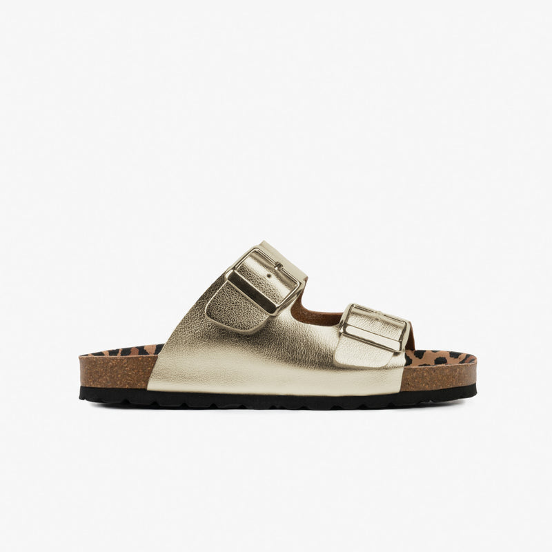 Girl's Platinum Buckles Bio Sandals