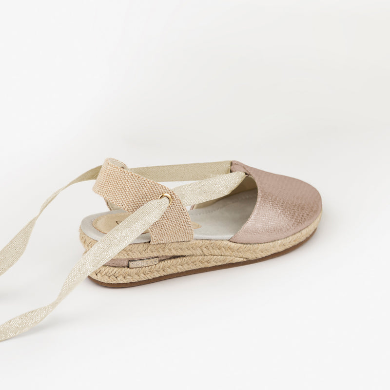 Girl's Pink Wedge Canvas Espadrilles