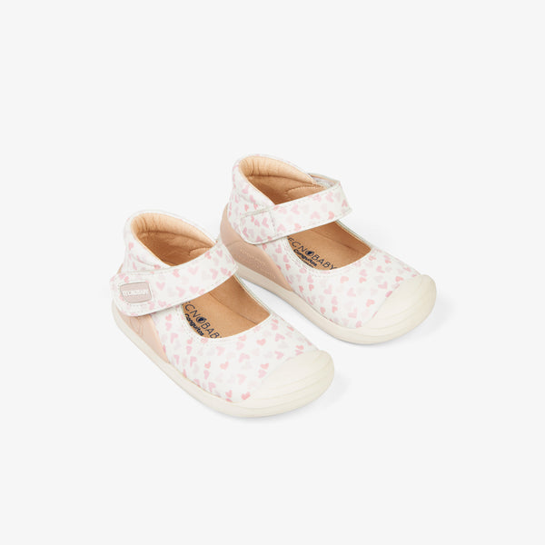 Baby's Pink Hearts onMicro® Mary Janes