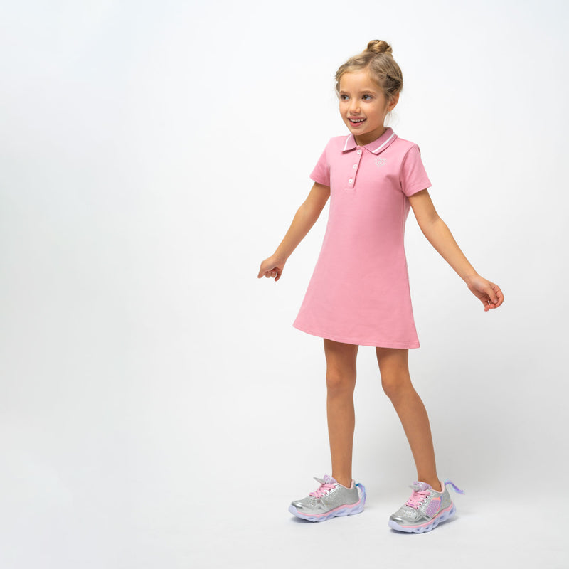 Girl's Pink Polo Dress