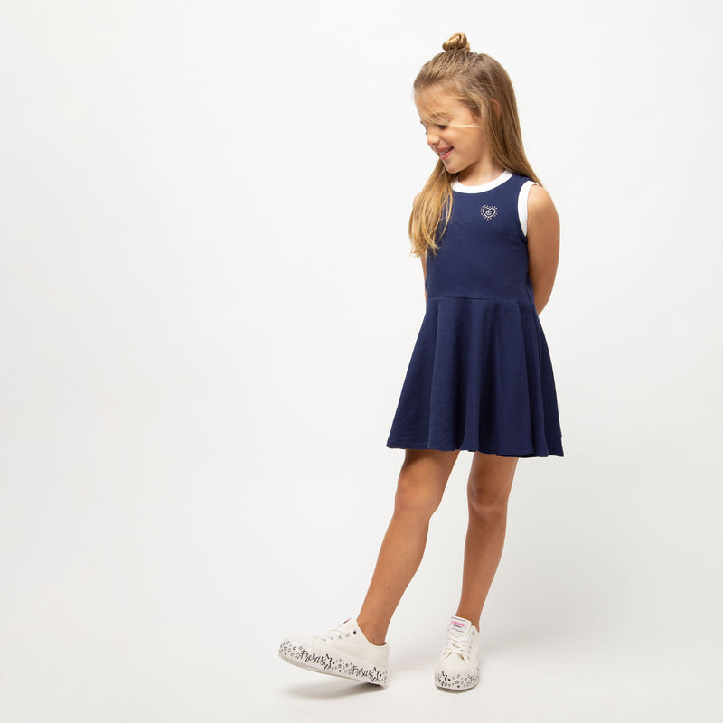 Girl's Blue Skater Dress