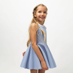 Girl's Light Blue Skater Dress