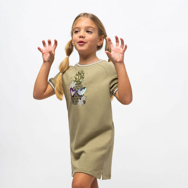 "Girl's ""Pineapple"" Glow in the Dark Dress"