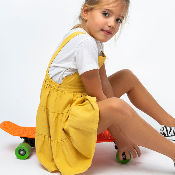 Girl's Mustard Pinafore Dress