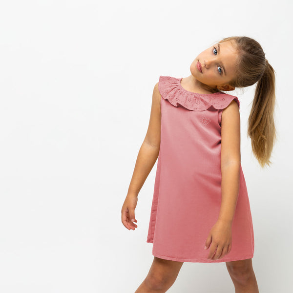 Girl's Pink Tencel Dress