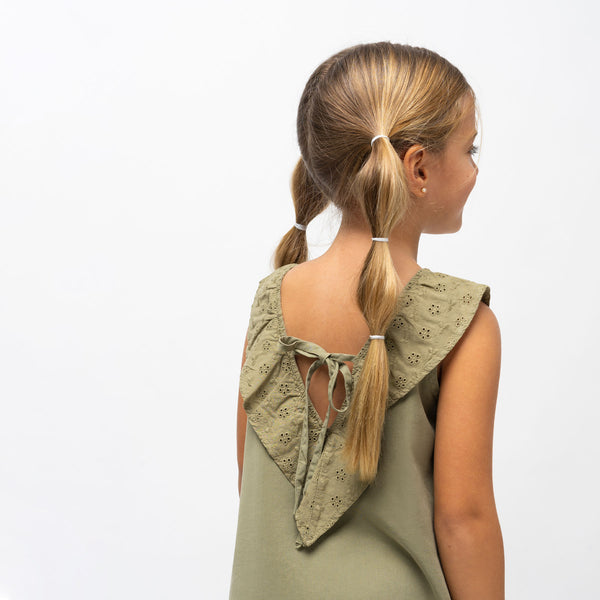 Girl's Khaki Tencel Dress