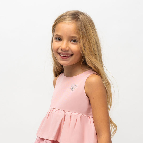 Girl's Pink Ruffled Dress