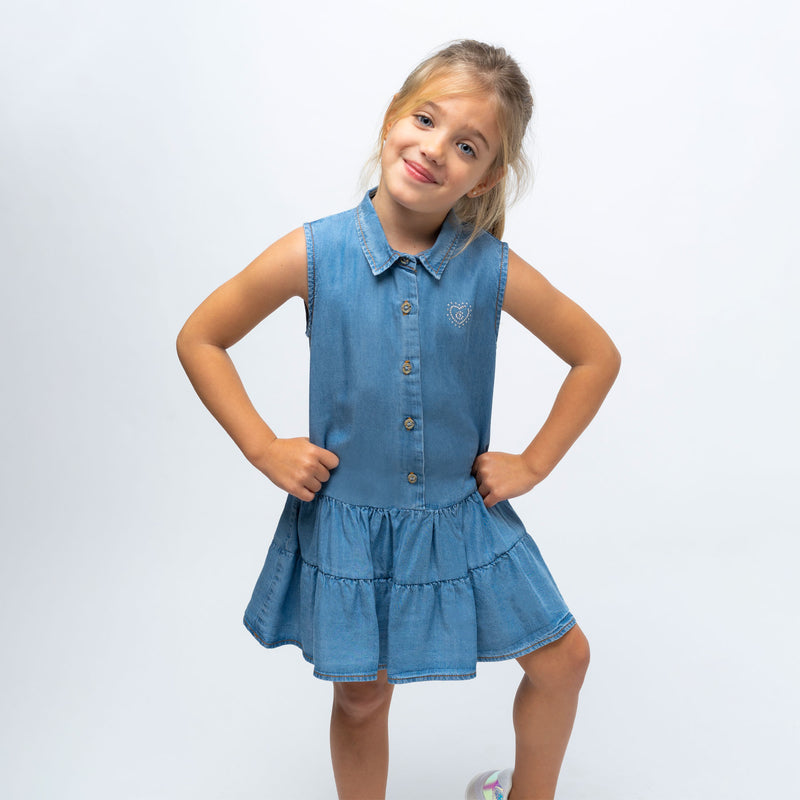 Girl's Denim Shirtdress