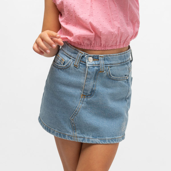 Girl's Denim Mini Skirt