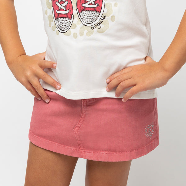 Girl's Pink Mini Skirt