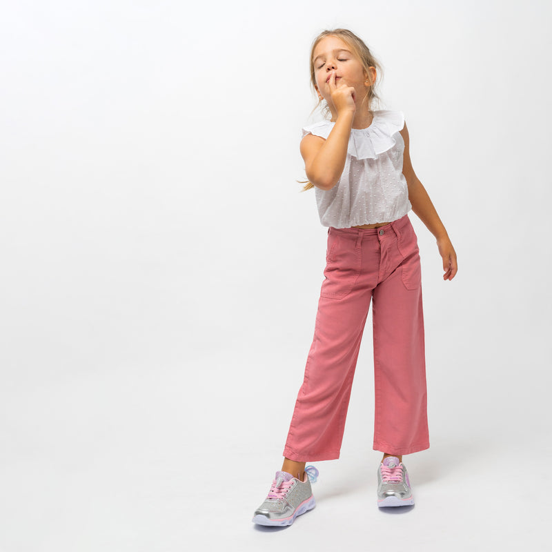 Girl's Pink Culotte